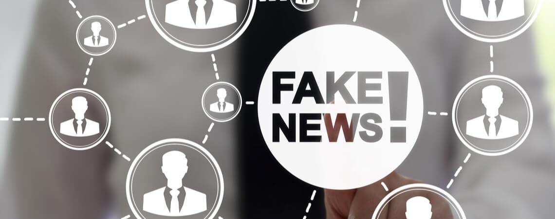 Verbreitung von Fake-News in einem Netzwerk