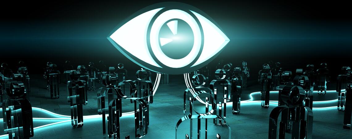 Auge führt Personenerkennung durch