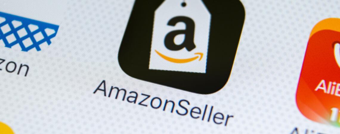 Amazon Seller auf Smartphone-Display