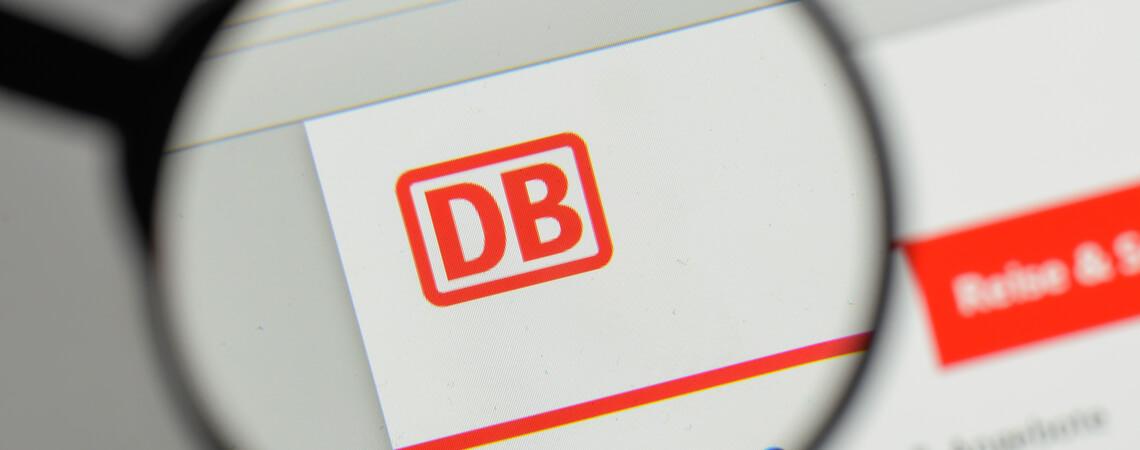 Seite der Deutschen Bahn unter der Lupe.