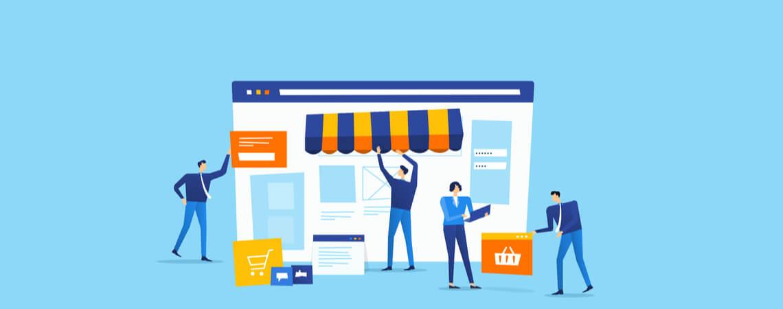 Grafik Online-Marktplatz