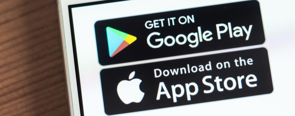 Play Store und App Store