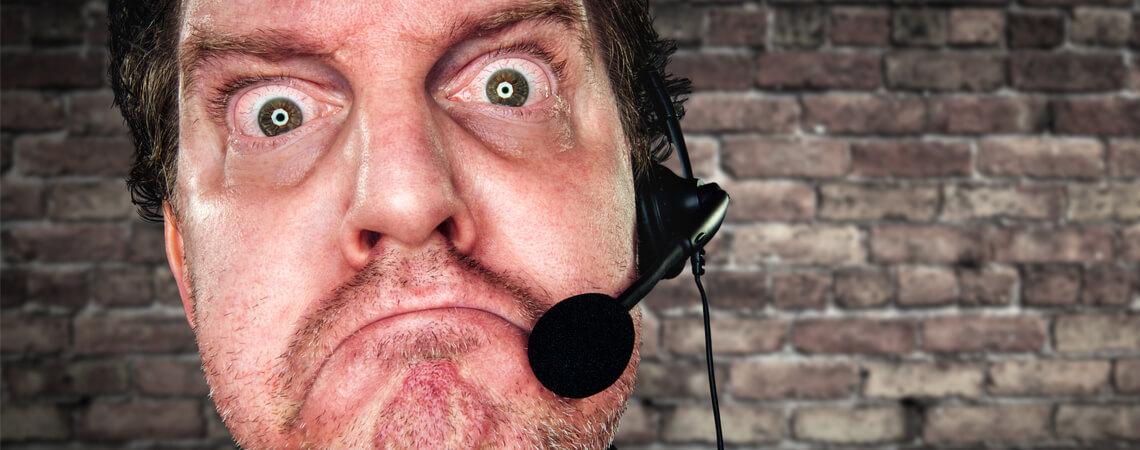 Böse Kundenservice-Mitarbeiter