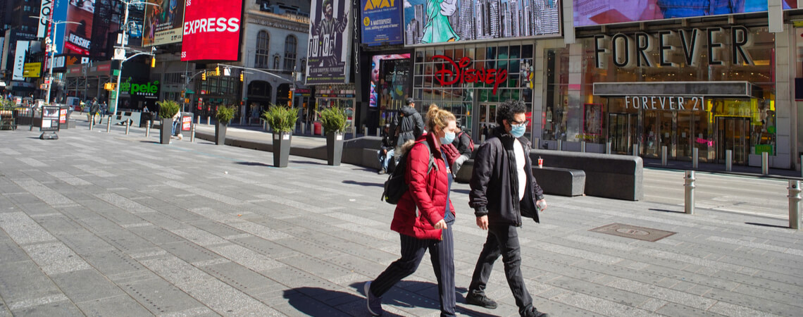 US-Bürger mit Masken