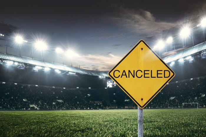 Abgesagtes Fußballspiel