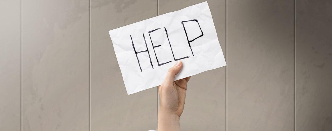 Hilfe-Schild