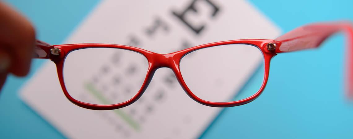 Brille mit Sehtest