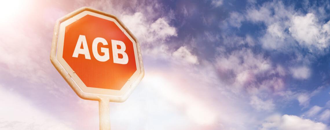 Stopp-Schild mit AGB