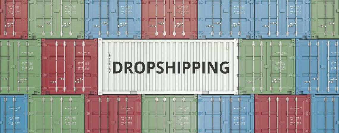 Dropshipping auf Schiffscontainern