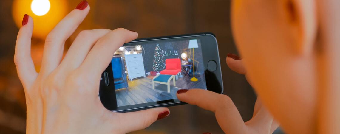 Augmented Reality beim Möbelkauf