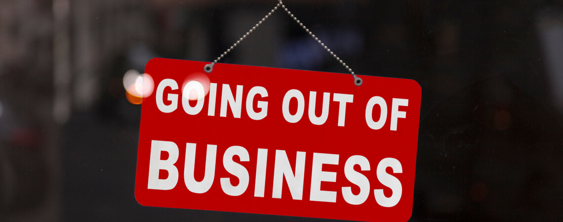 Going out of Business Schild