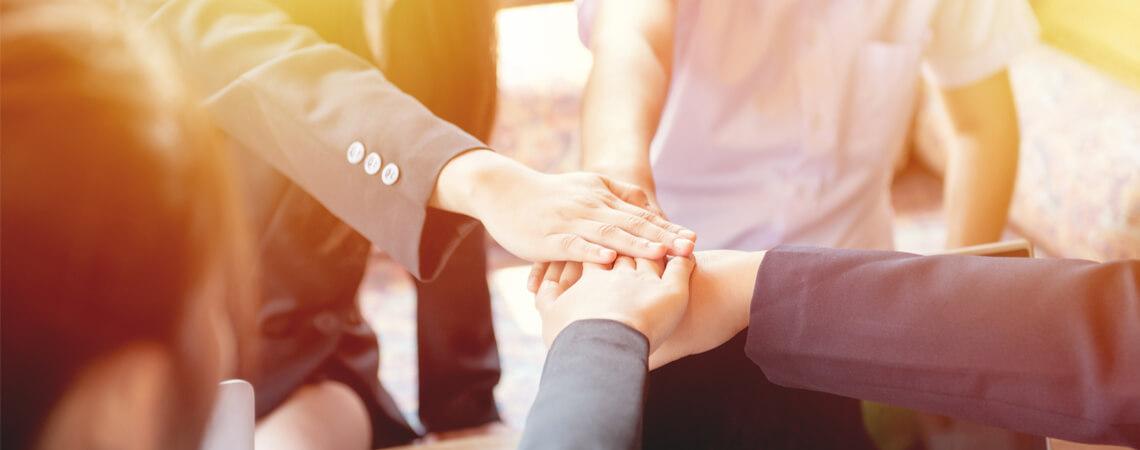 Teamwork - Hände