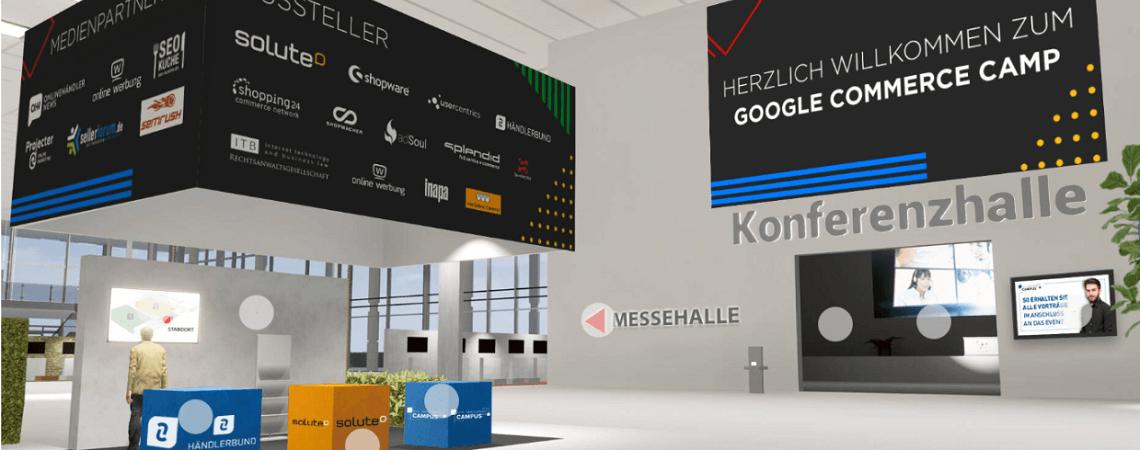 Foyer bei Digitalkonferenz Google Commerce Camp