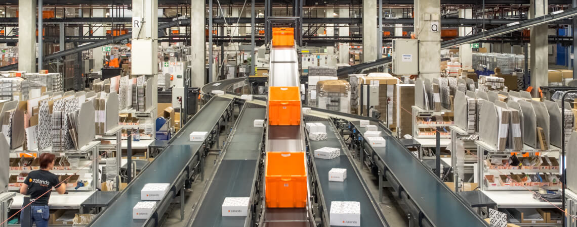Zalandos Logistikzentrum in Erfurt