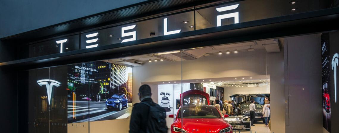 Filiale des Autobauers Tesla