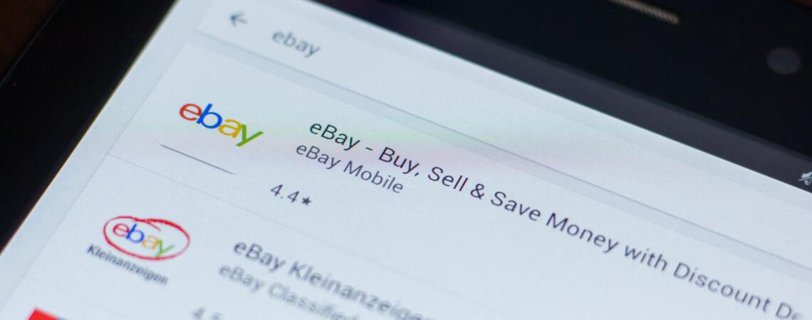 Ebay- und Ebay-Kleinanzeigen-App auf einem Smartphone