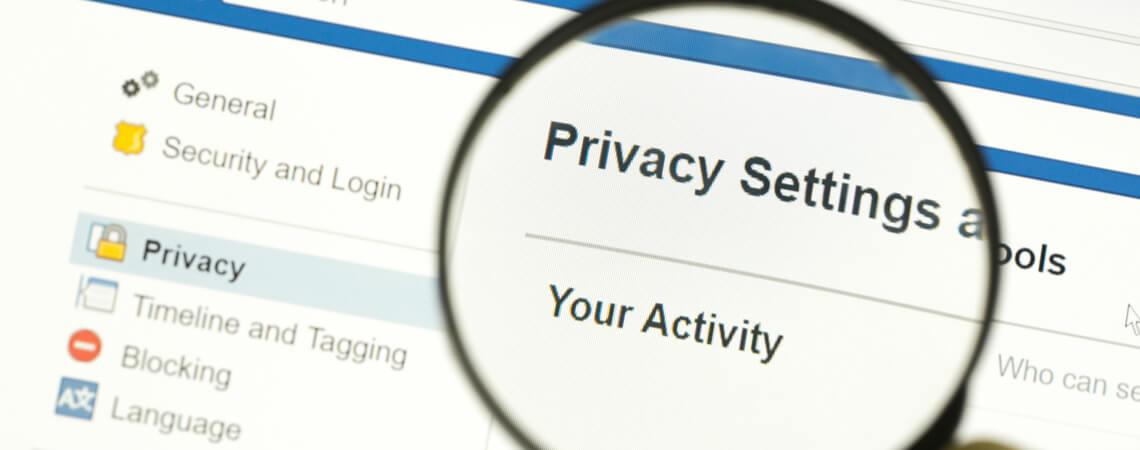 Datenschutzeinstellungen bei Facebook