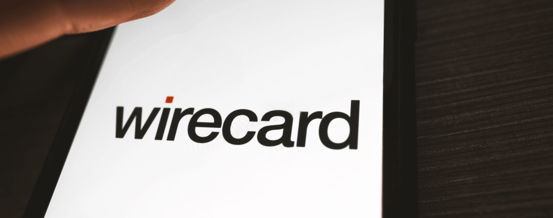 Logo des Unternehmens Wirecard auf einem smartphone