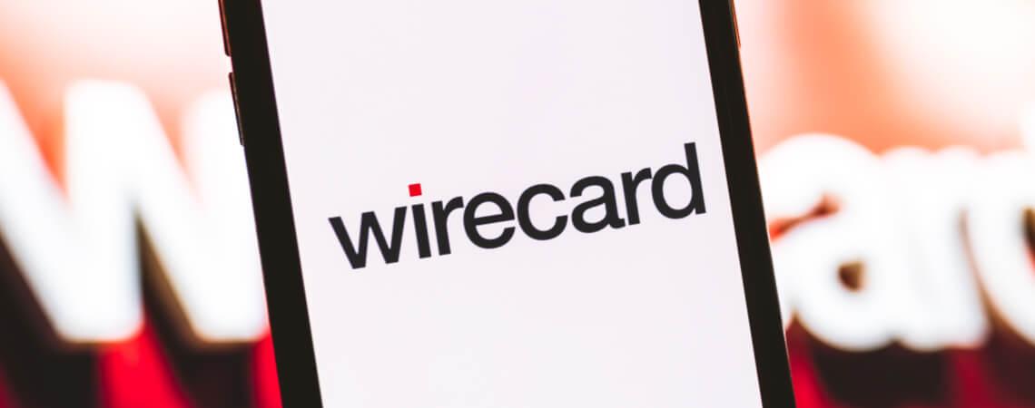 Wirecard-Logo auf einem Smartphone