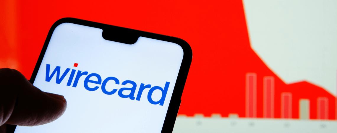 Wirecard-Logo mit Aktienkurs