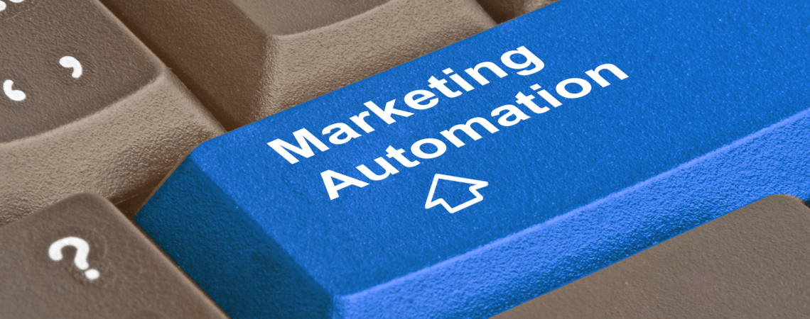 Marketing Automation auf Tastatur