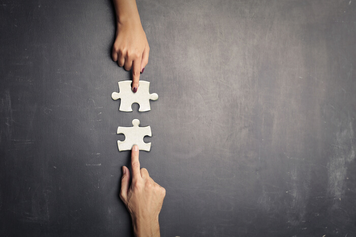 Passende Puzzle-Teile