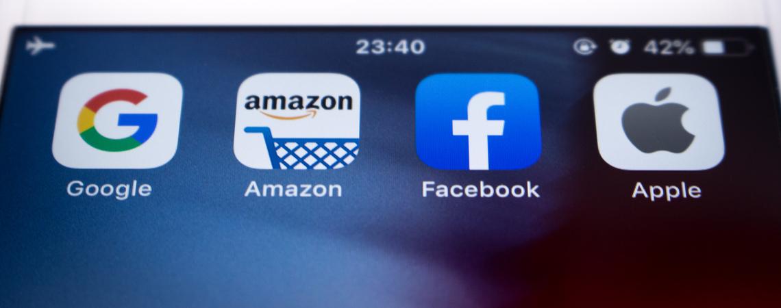 Apps von Google, Amazon, Facebook und Apple