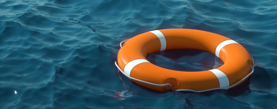 Leerer Rettungsring