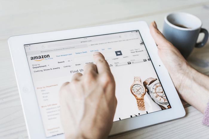 Amazon-Shop auf Tablet