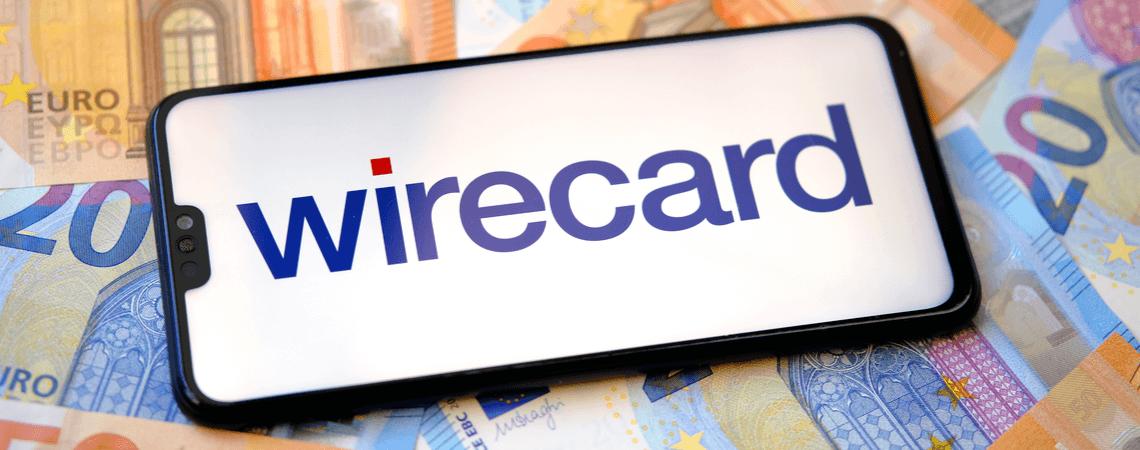 Wirecard-Logo auf Geldscheinen