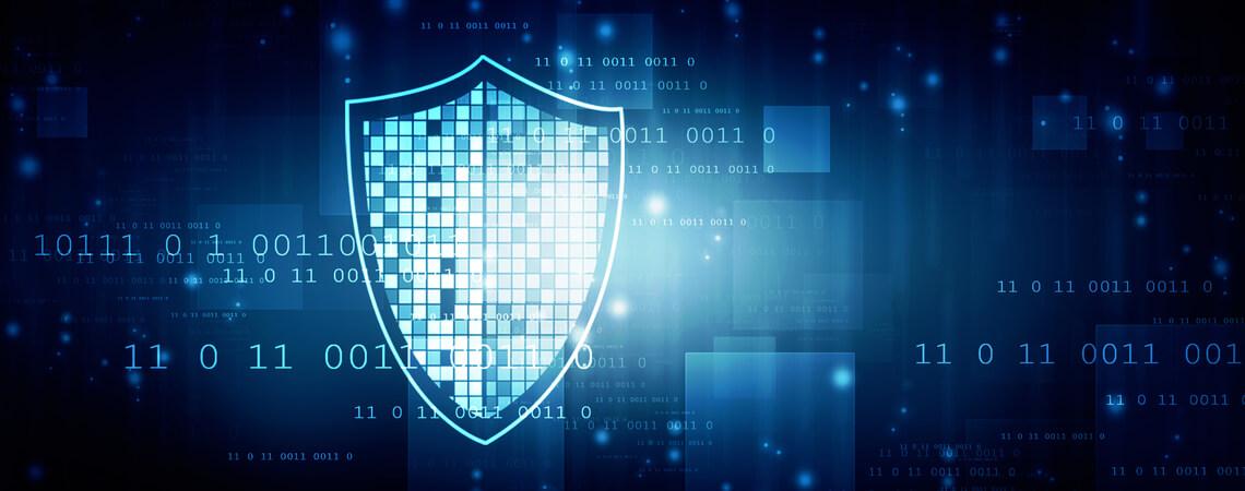 Illustration Daten und Schutzschild