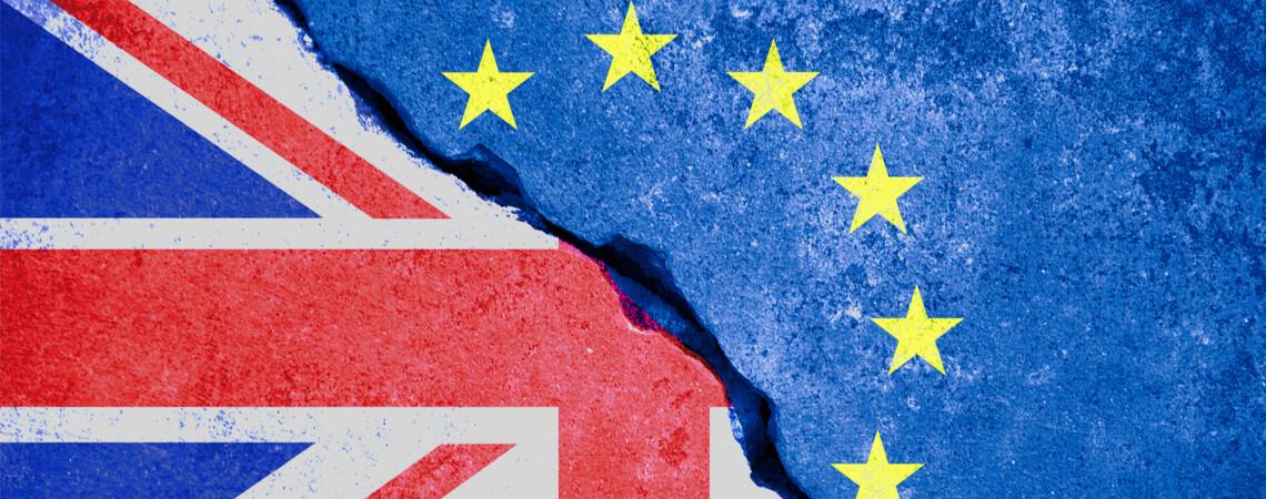 UK und EU Flagge