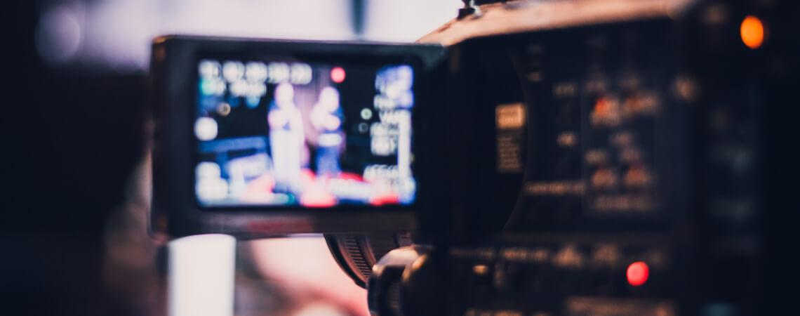 Kamera bereit, um ein Video aufzunehmen