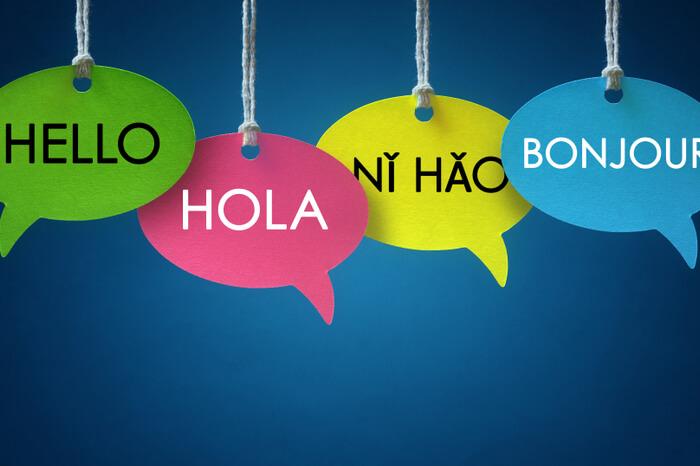 Sprechblasen verschiedene Sprachen