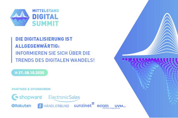Banner des Actindo Mittelstand Digital Summits 2020