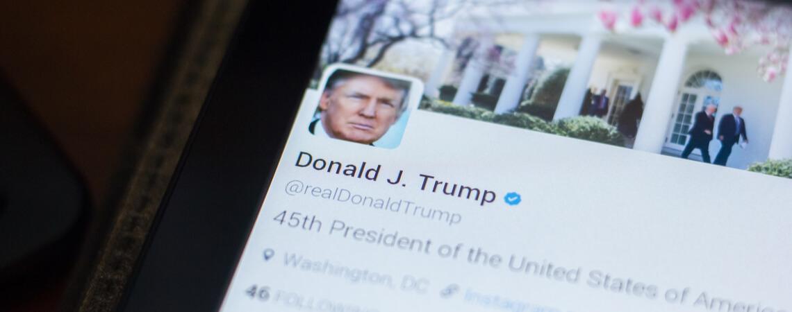 Twitter-Profil von Donald Trump