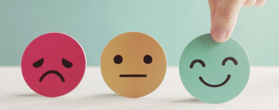 Kundenbewertung Smileys