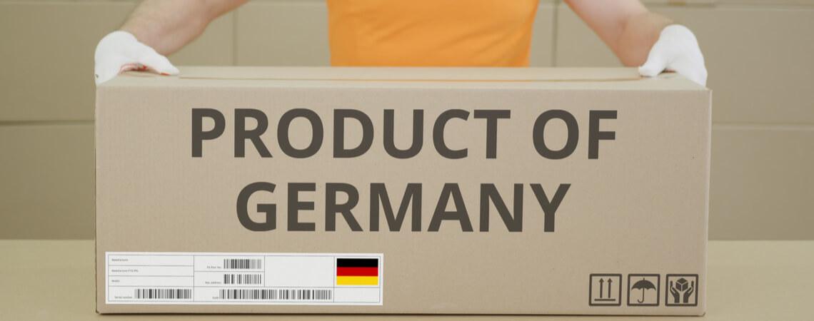 Karton-Aufdruck Product of Germany