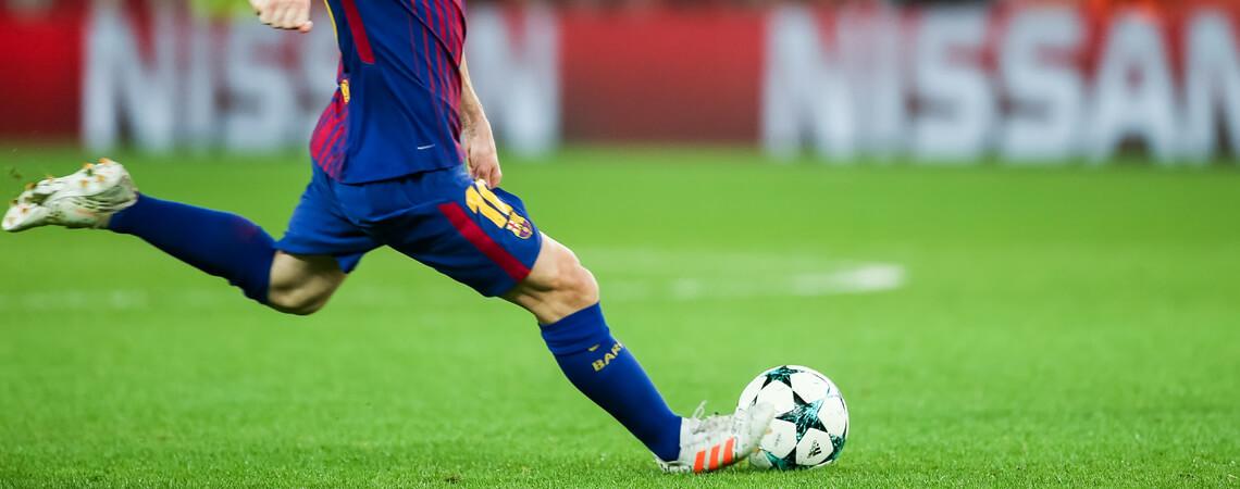 Lionel Messi beim Spielen