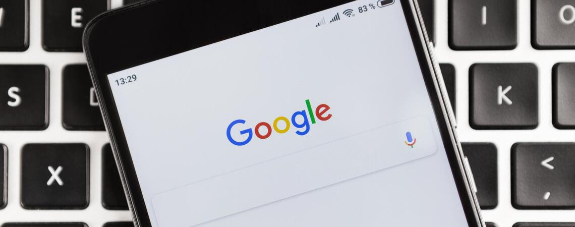 Google-Suche auf iOS