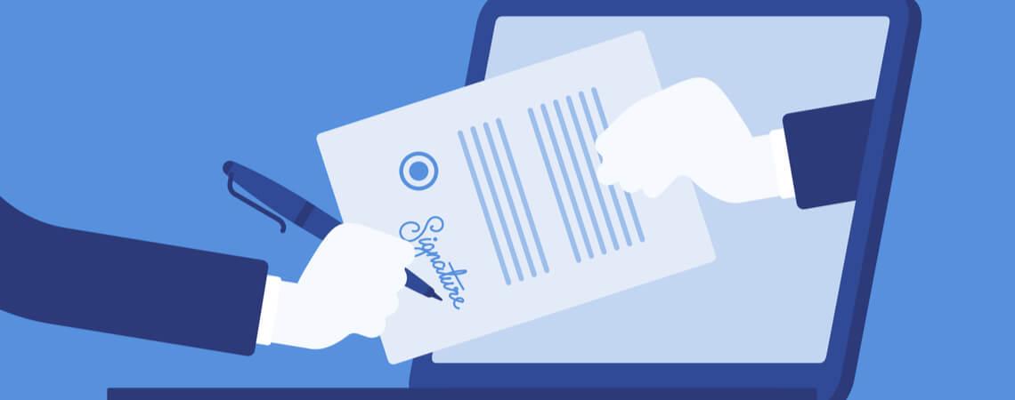Brief auf Laptop