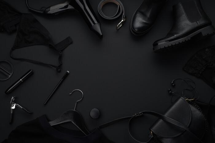 Schwarze Shopping-Güter Black Friday Konzept