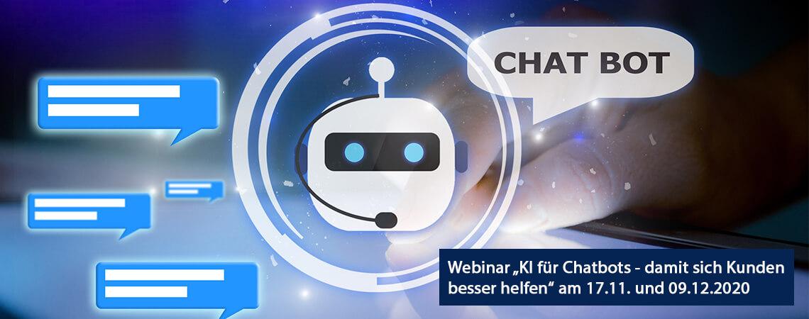 Chatbot sagt Wie kann ich helfen - Webinar-Ankündigung