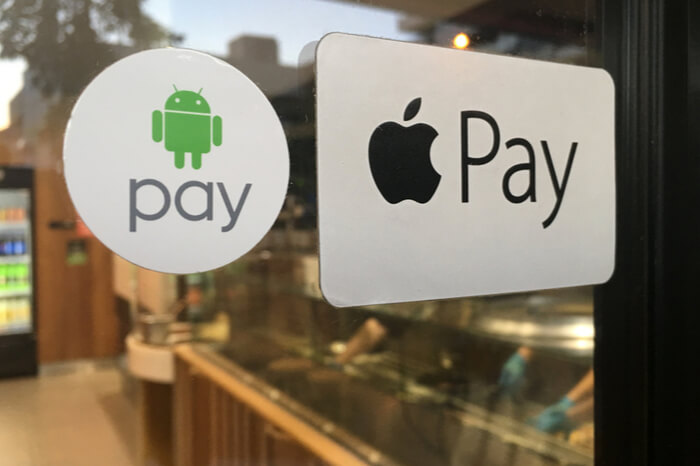 Apple Pay und Android Pay Logo