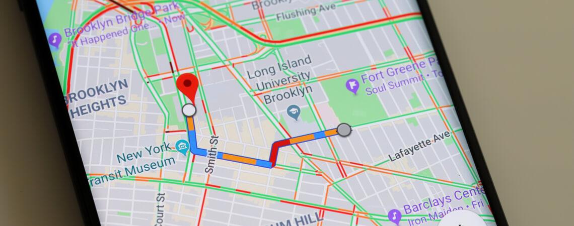 Route auf Google Maps