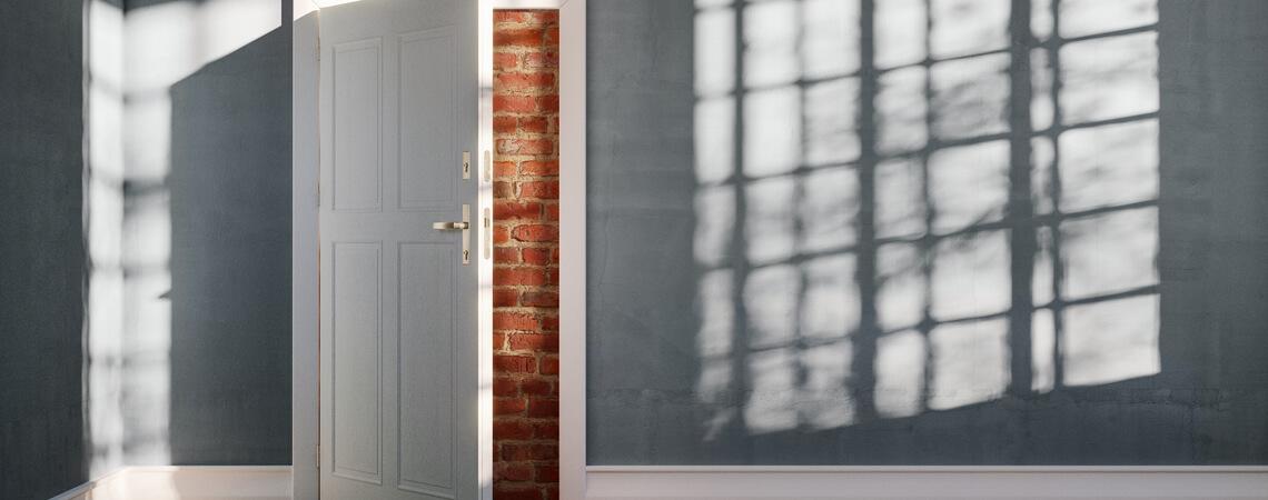 Zugemauerte Tür