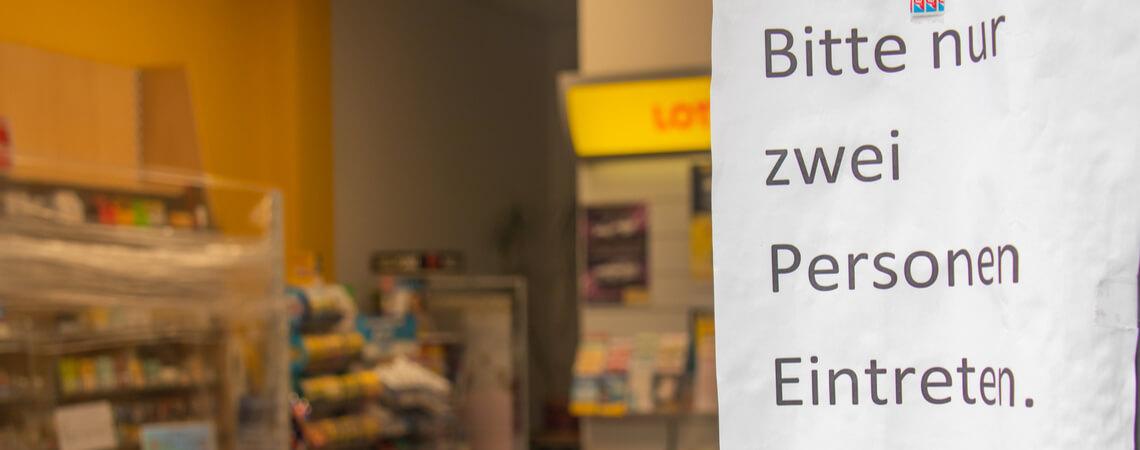 Geschäft mit Zugangsbeschränkungen