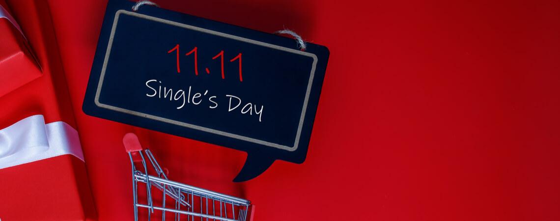 Singles Day in Einkaufswagen
