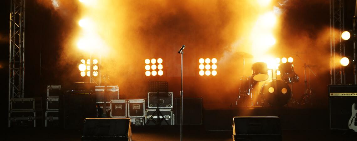 Konzertbühne ohne Künstler