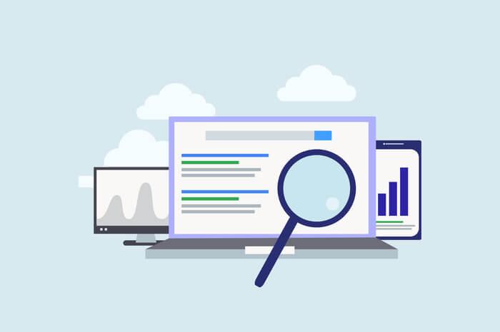 Grafik Lupe Webseite Suche